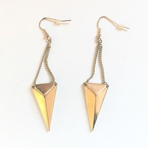 Express Gold Geometric Earrings Triangle Luxe
